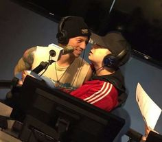 When you want to kiss him but then remember you are on a radio show.
