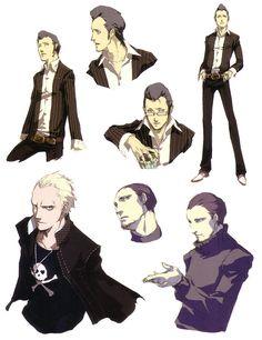 Kanji Tatsumi Concepts from Shin Megami Tensei: Persona 4