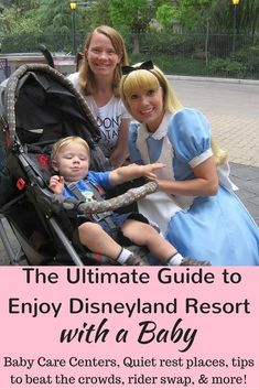 Disneyland with a baby or toddler can be overwhelming, but it doesn't have to be! Find tips on line strategy, quiet places to rest, how to use rider swap and fast passes, and baby care centers.