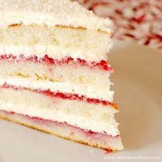 raspberry lemon cake w buttercream frosting.