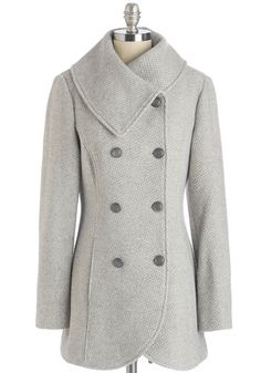Quiz Upon a Star Coat in Stone, @ModCloth