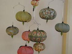 RESERVED FOR kelseyandjer Hanging mobile fairies pink teal
