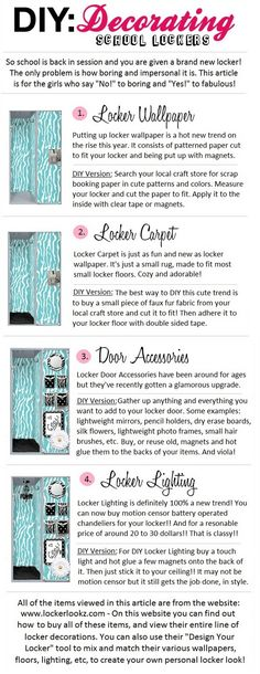 DIY Decorating Your School Locker!! ♥