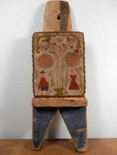 Colonial ADAM and EVE primitive punch needle by thesimplequiet, $95.00