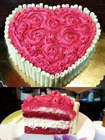 ΜΑΓΕΙΡΙΚΗ ΚΑΙ ΣΥΝΤΑΓΕΣ 2: Τούρτα Red Velvet με Μους λευκής σοκολατας !!!! Cake Creations, Confectionery, Cheesecakes, Beautiful Cakes, Cake Designs, Vanilla Cake, Red Velvet, Cake Recipes, Cake Decorating