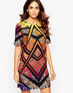 ASOS Paisley Printed T-Shirt Mini Dress