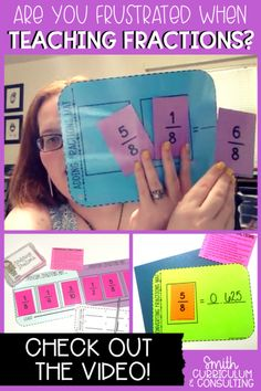 Fractions don't have to frustrate you and your students. The Fraction Games Mega Pack is here to meet the needs of all of your students covering modeling fractions, comparing fractions, fraction operations and more and works in any math class in to grade! Teaching Fractions, Comparing Fractions, Math Fractions, Teaching Math, Multiplication, Fraction Games, Fraction Activities, Math Activities, Educational Activities
