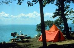 South Bass Island State Park at Put-in-Bay, Ohio. This could be you camping on the Lake! Lake Erie Islands nature.