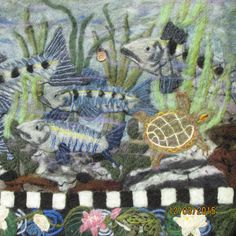 From Under The Delaware by Jen Boccardo Wool Needle Felt Tapestry