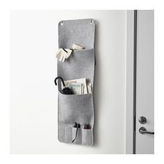 KNALLBÅGE Hanging organizer for accessories  - IKEA (back of door with 3m hooks?)