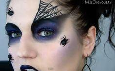 Make-up voor Halloween heks