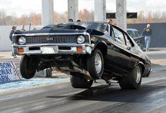 1971-72 Chevrolet Nova SS / Super Sport getting some wheels up action!