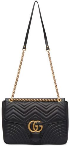 Gucci Black Large GG Marmont 2.0 Bag 77632b41349d