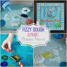 I HEART CRAFTY THINGS: Fizzy Dough Alphabet Ocean Hunt