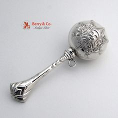 Clown Baby Rattle Sterling Silver