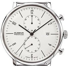 Dugena Herren-Armbanduhr DESSAU Chrono Chronograph Quarz Edelstahl 7090239