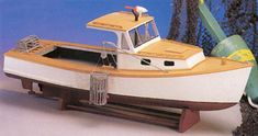 MAINE LOBSTER BOAT  Wood Model Boat Kit   MW991  $89.99 Historic Scale Wooden Model Boat Kit by Midwest Models
