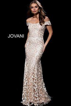 4995c4732548fe Gold Off the Shoulder Embroidered Evening Dress 49634
