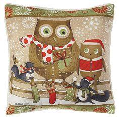 Christmas owls pillow