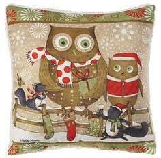 Christmas owls pillow