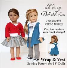 "Image result for wrap dress pattern for 18"" dolls"
