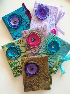 Cynthia Kershaw- Hand Sewn Needle Cases, Tote Bags and Silk Flower Pins