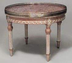 French Louis XVI table coffee table bleached