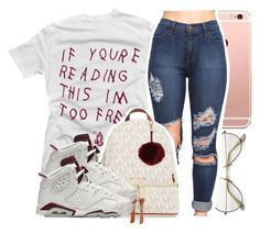"""""""lol @ all them lies you told me."""" by liyahhxoo ❤ liked on Polyvore featuring ZeroUV, MICHAEL Michael Kors and NIKE"""