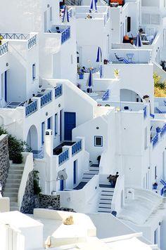 Building Blocks | Fira | Santorini | Greece | Photo By Darin Volpe Santorini Grecia, Santorini House, Mykonos Greece, Fira Greece, Plaster House, Greek Design, Greek House, Earth Homes, Beautiful Places To Travel