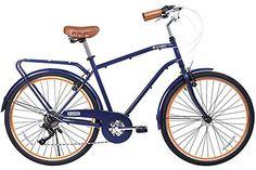 Gama Bikes 26 Men's City Azul Chic 6 Speed Shimano Hybrid Urban Commuter Road Bicycle, Wheel Size (26-Inch), Dark Blue - http://www.bicyclestoredirect.com/gama-bikes-26-mens-city-azul-chic-6-speed-shimano-hybrid-urban-commuter-road-bicycle-wheel-size-26-inch-dark-blue/