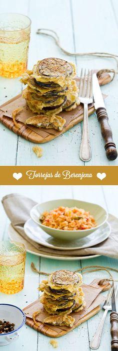 Receta Torrejas de Berenjenas Dominicanas: Un plato popular en nuestro país donde se usan como un sustituto rápido a la carne y como acompañante.