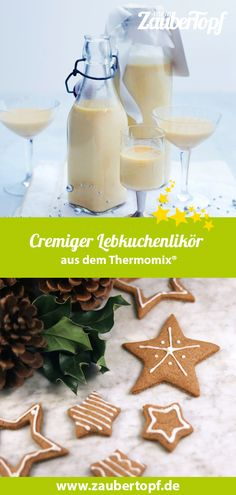 Creamy gingerbread liqueur- Cremiger Lebkuchenlikör Gingerbread liqueur from the Thermomix®️ is a delicious gift idea from the Packed in beautiful strap bottles and wrapped in a bow, everyone will love this Christmassy souvenir. Drink Tumblr, Tumblr Food, Drinks Alcoholicas, Spirulina Recipes, Easy Lemonade Recipe, Making Iced Tea, Refreshing Summer Drinks, Winter Drinks, Liqueur
