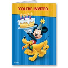 Disney Birthday Party Card