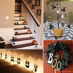 Fun Halloween ideas to spook up your home! Lights in the milkjugs,