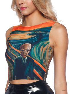 The Silence Scream Wifey Top by Black Milk Clothing Veruca Salt, Daytime Outfit, Black Milk Clothing, Cuffed Pants, My Black, Doctor Who, Pop Culture, Ios, Death