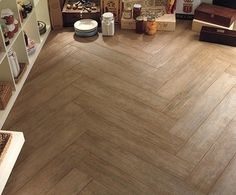 ceramic tile wood look, great for the basement