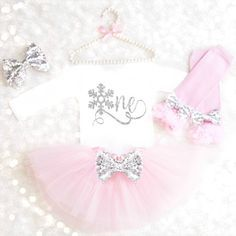 Winter Onederland Outfit Girl 1st Birthday by KennedyClaireCouture