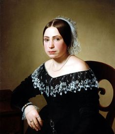 Giuseppe Tominz , SOFIA DE NICOLAI 1840-42 Olio su tela, 79 x 68 cm Proprietà: collezione privata