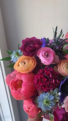 Floral Wedding, Wedding Bouquets, Coral Charm Peony, Jewel Tones, Spring Wedding, Got Married, Flower Arrangements, Floral Design, Floral Wreath