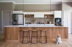 David and Verity's contemporary curved kitchen design. Timber Planks, Limestone Wall, Contemporary Kitchen Design, Hiding Places, Space Crafts, Joinery, Open Shelving, Cladding, Beautiful Homes
