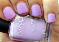 Angèle In The Sky: Kiko 330 (Lilac) Nail Polish Swatch & Review