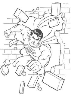 Superhero Coloring Page Printables