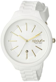 Rip Curl Women's A2822G-WHI Horizon Silicone by Alana Blanchard Analog Display Analog Quartz White Watch -- Visit the image link more details.