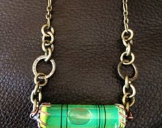 Steampunk Carpenters Bubble Level Necklace