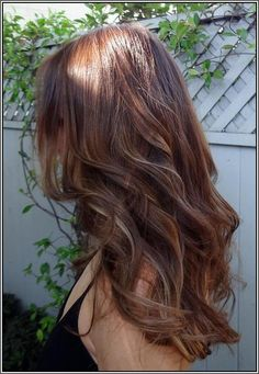 Light brown hair with caramel lowlights