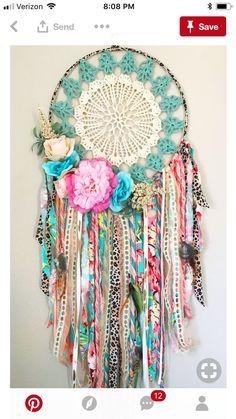 handmade-boho-dream-catcher-for-girls-room-or-nursery-pink-coral-turquoise-bohemian-bedroom-decor-boho-baby-shower-poetry-tea-babynurserydecor-boh/ SULTANGAZI SEARCH Bohemian Bedrooms, Bohemian Decor, Bohemian Crafts, Boho Diy, Bohemian Gypsy, Boho Baby Shower, Crochet Projects, Craft Projects, Hippie Trippy