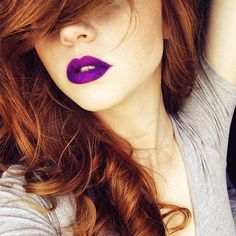 #redhead #redhair #ginger #freckles #freckledface #lips #toofaced #unicorn #edgy #makeup #makeupgeek #model #nymodels #picoftheday #createcommune #vscoportrait #pr0ject_soul #trendbookcz #lipstick #violet #violetlipstick #instagood #moodyports #filmpalette #herefallsthenight #of2humans #humanlovers #susanetalks #dreamingoftheinfinite #instagram_faces