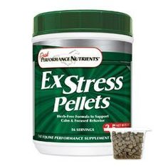 Ex Stress Pellets for Horses by Peak Performance Nutrients. $47.95. Ex Stress Pellets arean all-natural, herb-free formula to help your horse handle the stress of travel and competition. Ex Stress Pellets contains concentrated levels of Vitamin B1 (Thiamine), other B vitamins, and Magnesium.