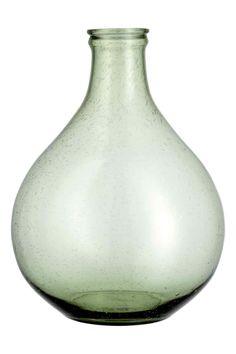 Grand vase en verre - Vert foncé - HOME | H&M BE