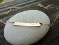 personalized,rose gold initial necklace-nameplate necklace-custom skinny bar necklace-rose gold personalized necklace-rose gold bar necklace